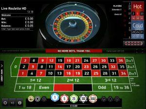 Online roulette casino's speelveld